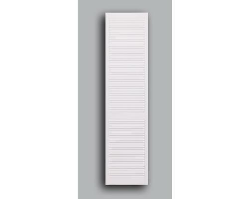 M/öbelt/ür oder Regalt/ür wei/ße Lamellent/üren als Schrankt/ür Lamellent/ür Kiefer weiss lackiert mit geschlossenen Lamellen 46,2 cm x 39,4 cm in 21 mm St/ärke Lichtdicht Staubdicht