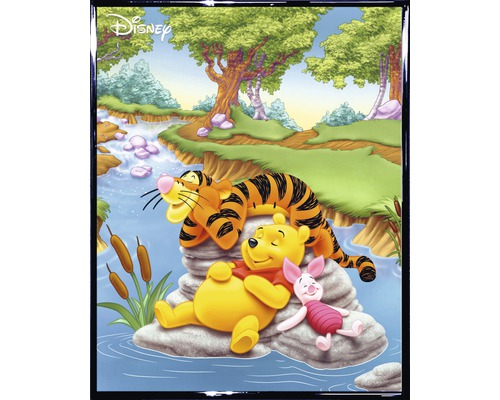 Wandbild Winnie Pooh & Tigger 40x50 cm