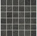 Feinsteinzeugmosaik Cliff schwarz 30x30 cm