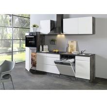 grifflose Küchenzeile Held Möbel Cardiff Weiß 280 cm inkl. Einbaugeräte