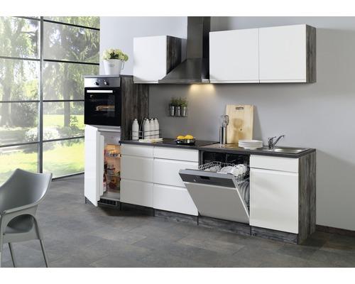 grifflose Küchenzeile Held Möbel Cardiff Weiß 10 cm inkl. Einbaugeräte