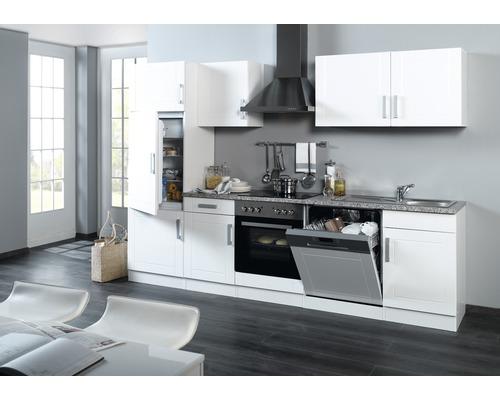 Küchenzeile Held Möbel Varel Weiß hochglanz 280 cm inkl. Einbaugeräte