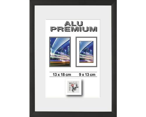 Bilderrahmen Alu Duo schwarz 13x18 cm
