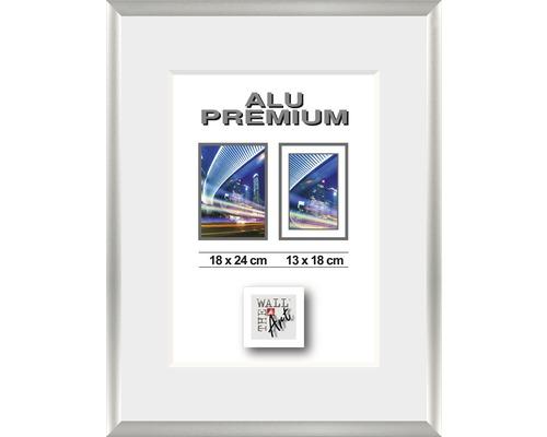Bilderrahmen Alu Duo silber 18x24 cm