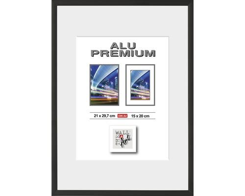Bilderrahmen Alu Duo schwarz 21x29,7 cm (DIN A4)