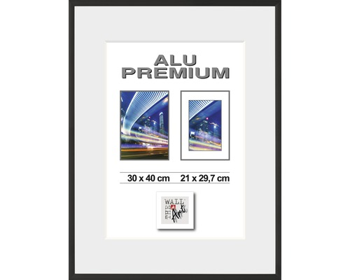 Bilderrahmen Alu Duo schwarz 24x30 cm