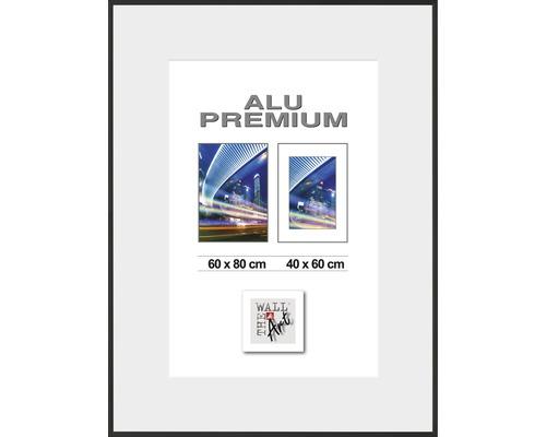 Bilderrahmen Alu Duo schwarz 60x80 cm