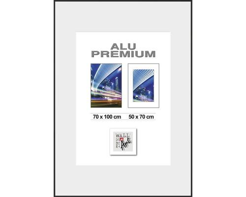 Bilderrahmen Alu Duo schwarz 70x100 cm