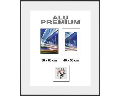 Bilderrahmen Alu Duo schwarz 50x60 cm