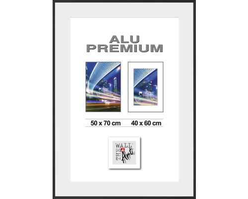 Bilderrahmen Alu Duo schwarz 50x70 cm