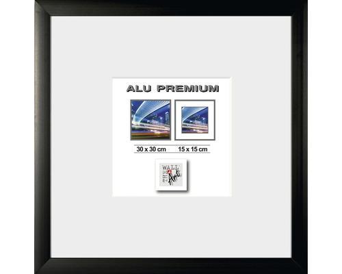 Bilderrahmen Alu Quattro schwarz 30x30 cm