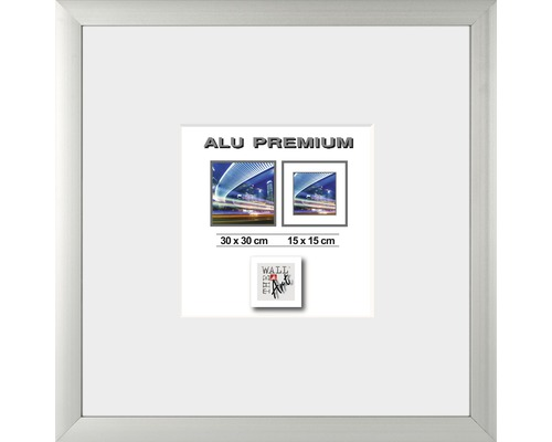 Bilderrahmen Alu Quattro silber 30x30 cm