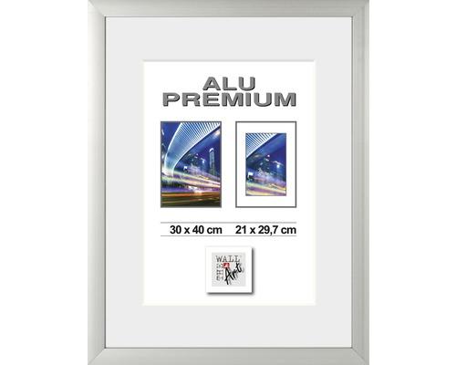 Bilderrahmen Alu Quattro silber 30x40 cm