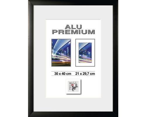 Bilderrahmen Alu Quattro schwarz 30x40 cm