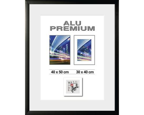 Bilderrahmen Alu Quattro schwarz 40x50 cm