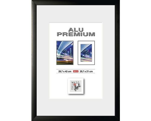 Bilderrahmen Alu Quattro schwarz 29,7x42 cm (DIN A 3)