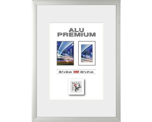 Bilderrahmen Alu Quattro silber 29,7x42 cm (DIN A 3)