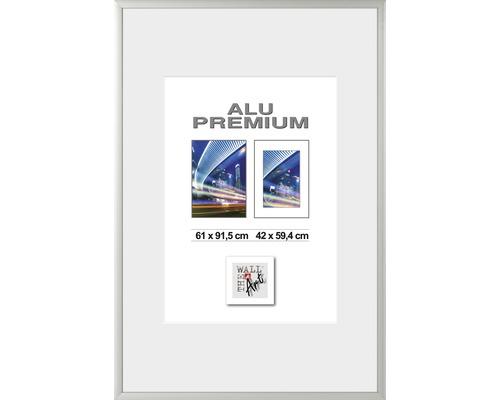 Bilderrahmen Posterrahmen Alu Quattro silber 61x91,5 cm
