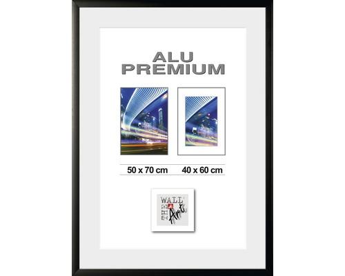 Bilderrahmen Alu Quattro schwarz 50x70 cm