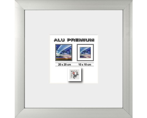 Bilderrahmen Alu Quattro silber 20x20 cm