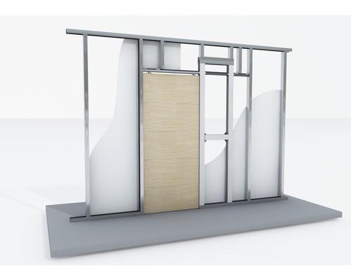 Pocket Kit Schiebetürsystem KNAUF für Holztürblatt für CW 75 sowie CW 100