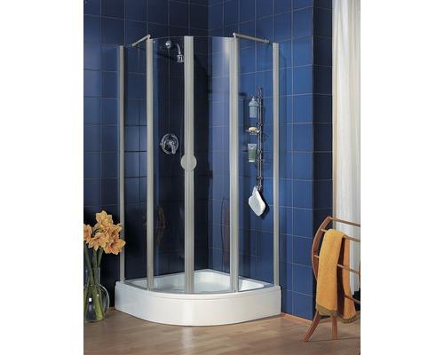 Runddusche Schulte Lugano R500 90x90 cm Klarglas Profilfarbe aluminium