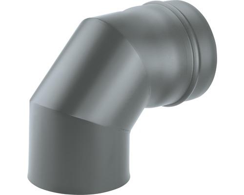 Ofenrohr-Bogen 90° Ø80 mm Senotherm lackiert gussgrau