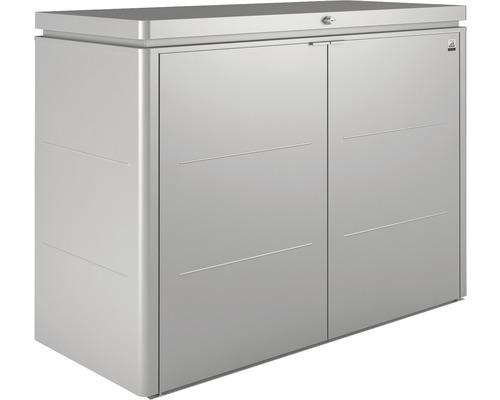 Terrassenschrank biohort HighBoard 160x70x118 cm silber