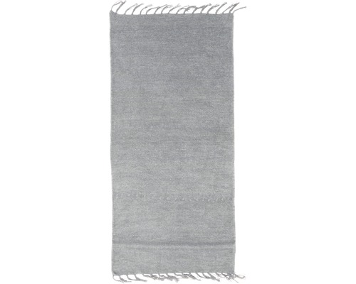 Fleckerlteppich Chenille grau 60x120 cm
