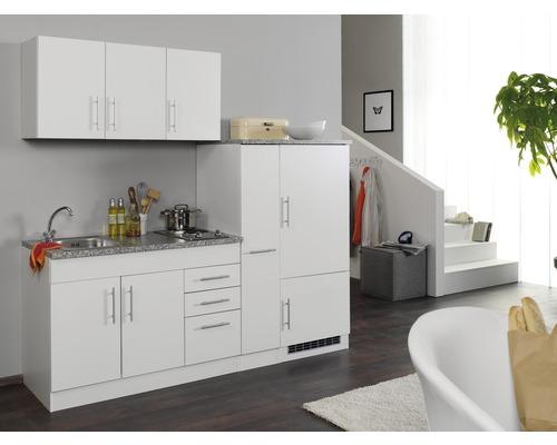 Küchenzeile Held Möbel Toronto Weiß 210 cm inkl. Einbaugeräte