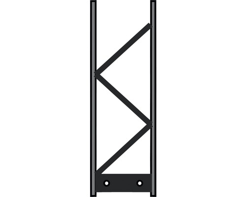 Pfosten Palo 200 20 x 60 cm, silber