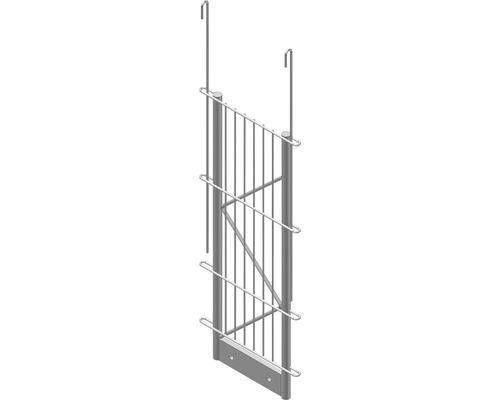 Einfach-Pfosten Palo Fix 60 cm, silber