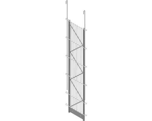 Einfach-Pfosten Palo Fix 100 cm, silber