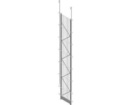 Einfach-Pfosten Palo Fix 140 cm, silber