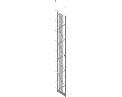 Einfach-Pfosten Palo Fix 160 cm, silber