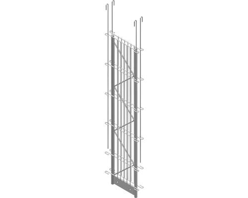 Doppel-Pfosten Palo Fix 100 cm, silber