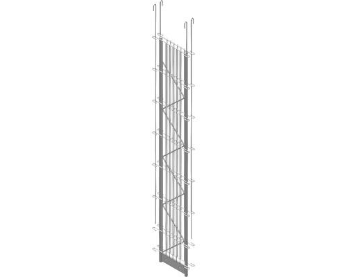 Doppel-Pfosten Palo Fix 140 cm, silber