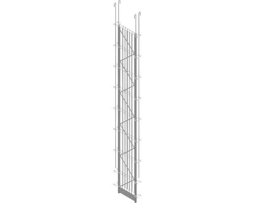 Doppel-Pfosten Palo Fix 160 cm, silber
