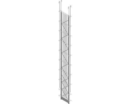 Doppel-Pfosten Palo Fix 180 cm, silber