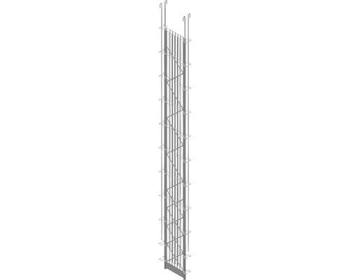 Doppel-Pfosten Palo Fix 200 cm, silber
