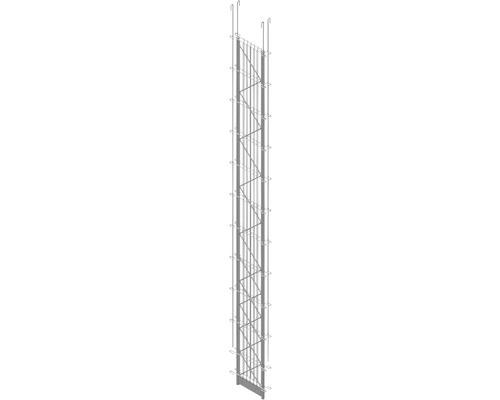 Doppel-Pfosten Palo Fix 220 cm, silber