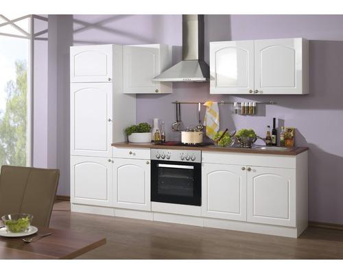 Küchenzeile Held Möbel Boston Weiß hochglanz 270 cm inkl. Einbaugeräte