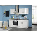 Küchenzeile Held Möbel Nevada weiß hochglanz 210 cm inkl. Einbaugeräte