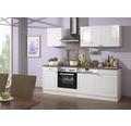 Küchenzeile Held Möbel Boston Weiß hochglanz 220 cm inkl. Einbaugeräte