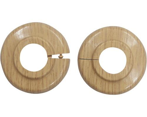 Heizkörperrosette PVC 18 mm buche 2 Stück