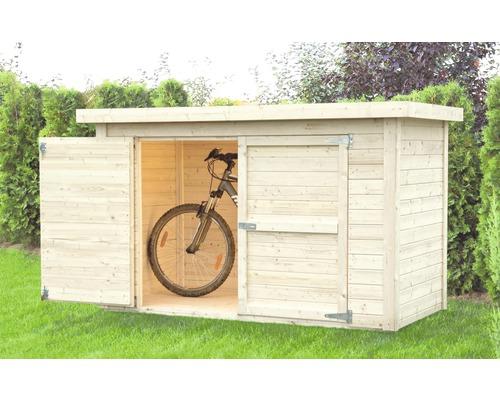 Fahrradgarage/Wandschrank Velo mit Fußboden 206x102 cm natur