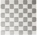 Feinsteinzeugmosaik grau unglasiert 30x30 cm