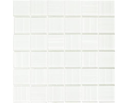 Glasmosaik weiß glänzend 29,8x29,8 cm