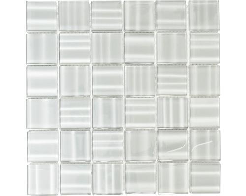 Glasmosaik grau glänzend 29,8x29,8 cm