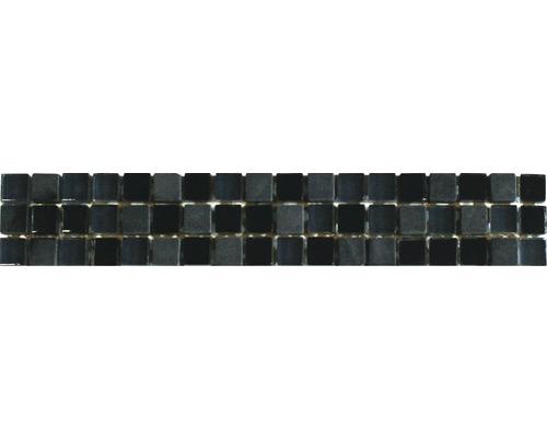 Bordüre Peru Schwarz-Grau 5x30 cm